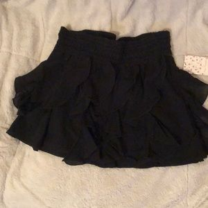 Free people black mini skirt